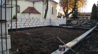 2015.11.18 - Budowa budynku gospodarczego i kaplicy